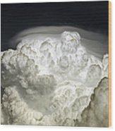 Cumulus Congestus Cloud With Pileus Wood Print
