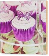 Cup Cakes Wood Print
