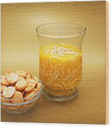 Cup O Soup And Oyster Crackers Wood Print