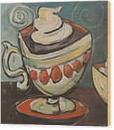 Cup Of Mocha Wood Print