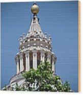 Cupola Atop St Peters Basilica Vatican City Italy Wood Print