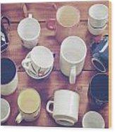 Cups Wood Print by Joana Kruse