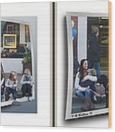 Curb Resting - Gently Cross Your Eyes And Focus On The Middle Image Wood Print
