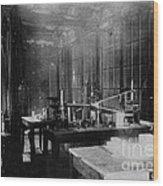 Curie Laboratory Wood Print