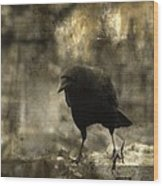 Curiosity Of The Graveyard Crow Wood Print