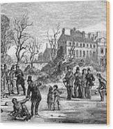 Curling, 1853 Wood Print