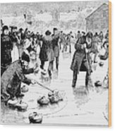 Curling, 1884 Wood Print