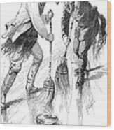 Curling Players, 1885 Wood Print