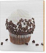 Curly Q Chocolate Cupcake Wood Print