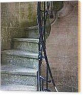 Curly Stairway Wood Print