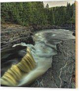 Current River Falls Wood Print