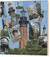 Currituck Beach Light House Station Nc Usa Wood Print