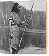 Curtis: Nootka Man, C1910 Wood Print