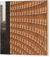 Curved Balconies Wood Print