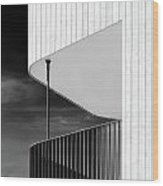 Curved Balcony Wood Print