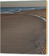 Curving To The Sea II Wood Print