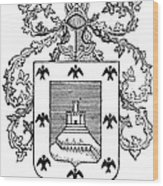 Cusco: Coat Of Arms Wood Print