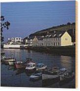Cushendun Harbour, Co Antrim, Ireland Wood Print