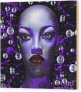 Cushioned Lips Moon Lady Wood Print