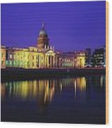 Custom House, Dublin, Co Dublin Wood Print by The Irish Image Collection
