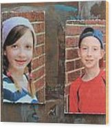 Custom Photo Portrait Group Wood Print