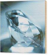 Cut Diamond Wood Print