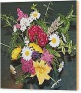 Cut Flowers Wood Print