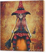 Cutest Little Witch Wood Print