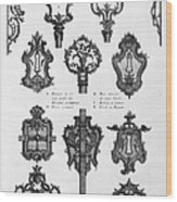 Cuvilli�s: Locks And Keys Wood Print