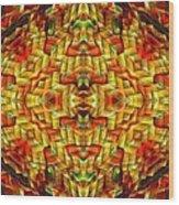 Cyberbraid Mandala Wood Print