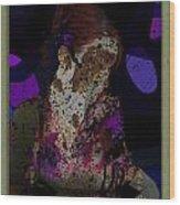 cybergeisha II Wood Print by Adam Kissel