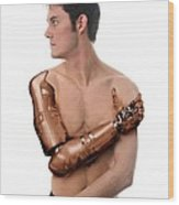 Cybernetic Arm, Composite Image Wood Print by Victor Habbick Visions