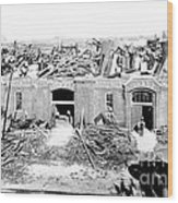 Cyclone Damage, 1896 Wood Print by Science Source