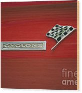 Cyclone Emblem Wood Print