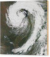 Cyclone Over Lake Michigan Wood Print