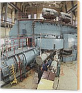 Cyclotron Particle Accelerator Wood Print by Ria Novosti