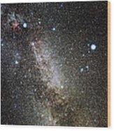 Cygnus And Lyra Constellations Wood Print