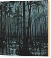 Cypress Moon Wood Print