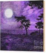 Cypress Trees At Sutro Heights Wood Print