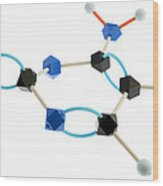 Cytosine Molecule Wood Print by Lawrence Lawry