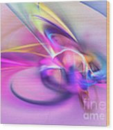 Daddys Girl - Abstract Art Wood Print by Abstract art prints by Sipo