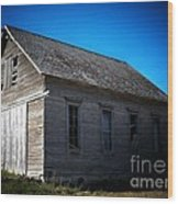 Daddys Old School House Wood Print