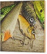 Dad's Fishing Crankbaits Wood Print