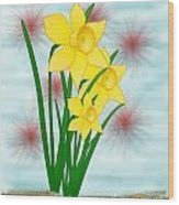 Daffodills Wood Print