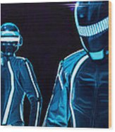 Daft Punk Wood Print by Ellen Patton
