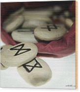Dagaz On Mannaz Wood Print