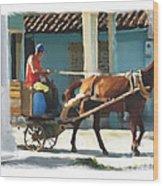 daily chores small town rural Cuba Wood Print