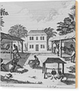 Daily Life For Enslaved Africans Wood Print by Everett