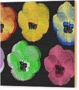 Daisies II Wood Print