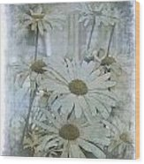 Daisy Blues Wood Print